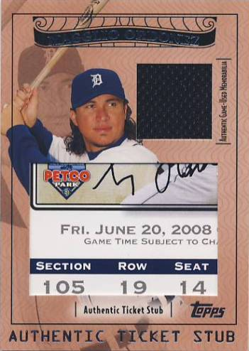 2009 Topps Ticket to Stardom Ticket Stubs Plus Memorabilia #TSP21 Magglio Ordonez/90