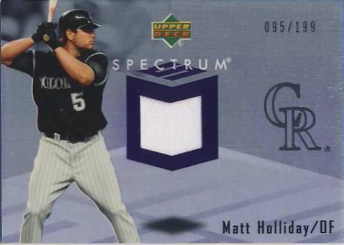 2007 Upper Deck Spectrum Swatches #MH Matt Holliday