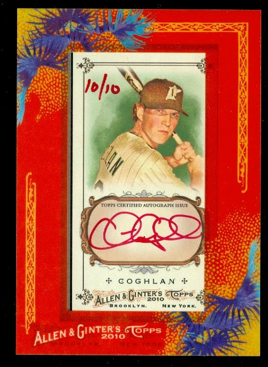 2010 Topps Allen and Ginter Autographs Red Ink #CC Chris Coghlan