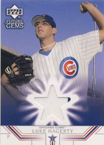 2002 Upper Deck Prospect Premieres #77 Luke Hagerty JSY XRC