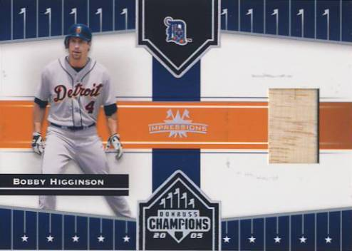 2005 Donruss Champions Impressions Material #408 Bobby Higginson Bat T4