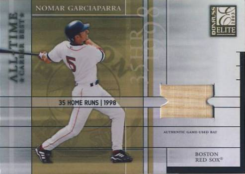 2003 Donruss Elite All-Time Career Best Materials #45 Nomar Garciaparra Bat/400