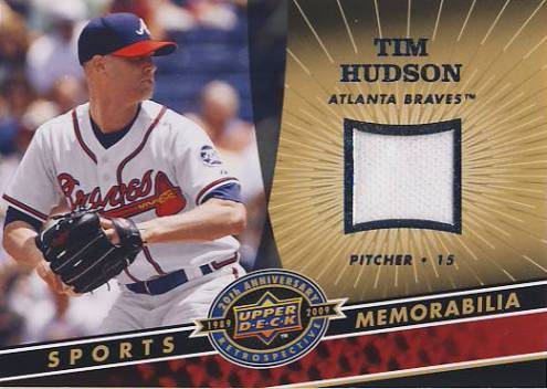 2009 Upper Deck 20th Anniversary Memorabilia #MLBTI Tim Hudson