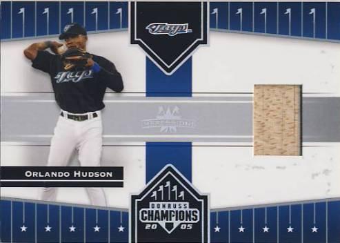 2005 Donruss Champions Impressions Material #75 Orlando Hudson Bat T5