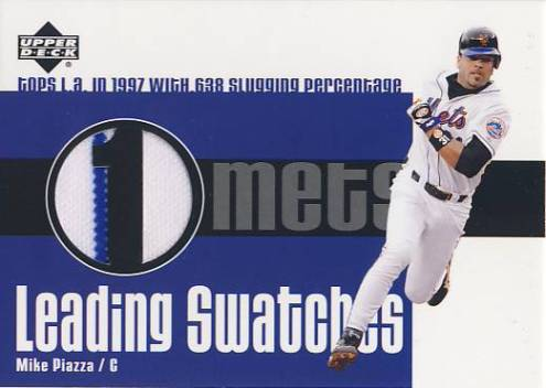 2003 Upper Deck Leading Swatches #MP1 Mike Piazza SLG