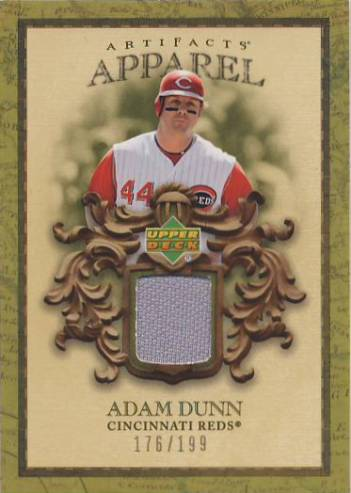 2007 Artifacts MLB Apparel #AD Adam Dunn