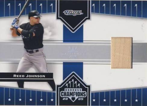2005 Donruss Champions Impressions Material #79 Reed Johnson Bat T5
