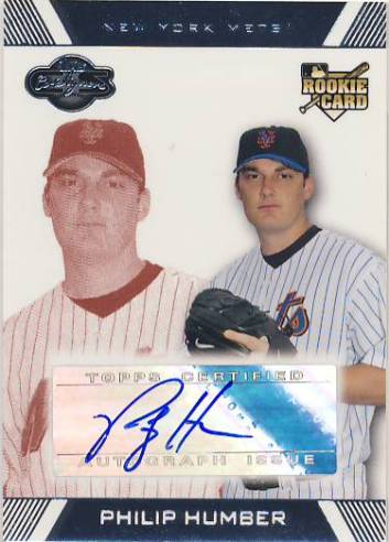 2007 Topps Co-Signers Red #109 Philip Humber AU