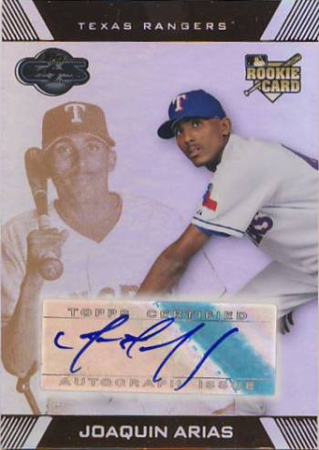 2007 Topps Co-Signers Hyper Silver Bronze #103 Joaquin Arias AU