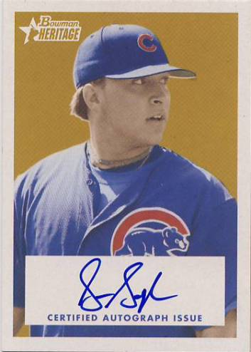 2006 Bowman Heritage Signs of Greatness #SG Sean Gallagher B