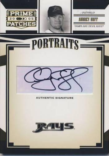 2005 Prime Patches Portraits Autograph #79 Aubrey Huff T4