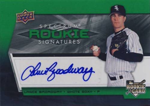 2008 Upper Deck Spectrum Green #132 Lance Broadway AU