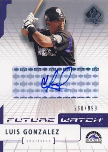 2004 SP Authentic Future Watch Autograph #191 Luis A. Gonzalez FW