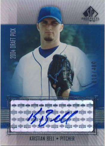 2004 SP Prospects Autograph Bonus #KB Kristian Bell/400