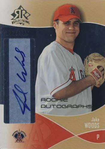 2004 Reflections Gold Rookie Autograph 125 #110 Jake Woods AU