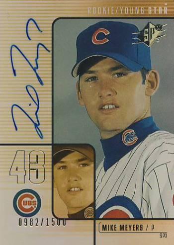2000 SPx #150 Mike Meyers AU/1500 RC