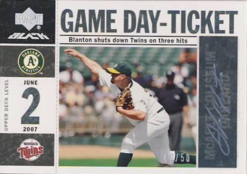 2007 UD Black Game Day Ticket Autographs #JB Joe Blanton