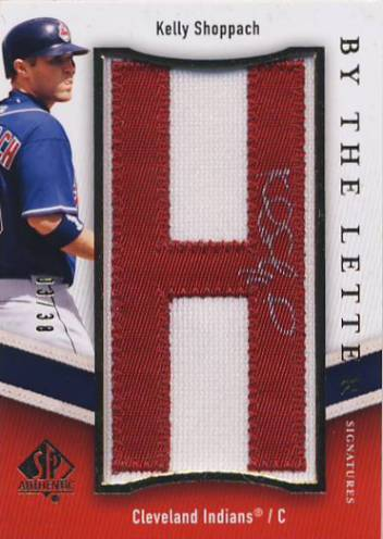 2009 SP Authentic By The Letter Signatures #KS Kelly Shoppach/494*/Letters spell Kelly Shoppach/(each letter #'d/38)