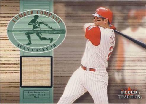 2002 Fleer Tradition Lumber Company Game Bat #4 Sean Casey SP/250
