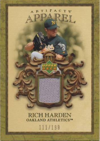 2007 Artifacts MLB Apparel #RH Rich Harden