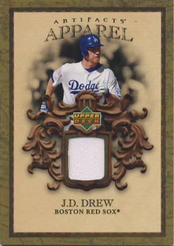 2007 Artifacts MLB Apparel #JD J.D. Drew