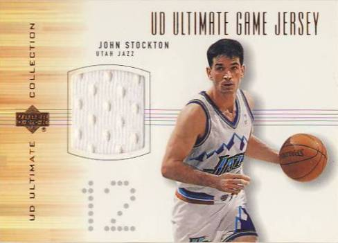 2000-01 Ultimate Collection Game Jerseys Bronze #JSJ John Stockton
