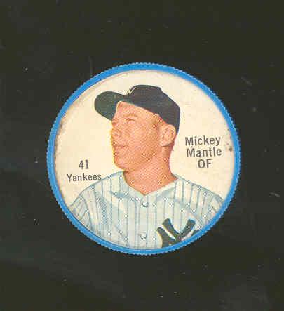 1962 Shirriff Plastic Coins #41 Mickey Mantle
