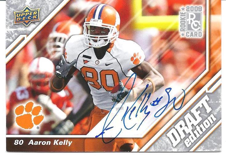 2009 Upper Deck Draft Edition Autographs Silver #89 Aaron Kelly