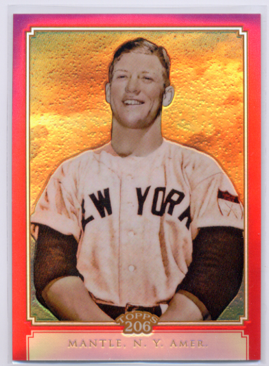 2010 Topps Chrome 206 Chrome Red Refractors #TC14 Mickey Mantle