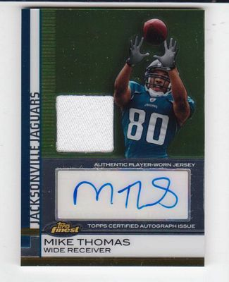 2009 Finest Rookie Jersey Autographs #71 Mike Thomas/409