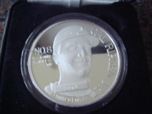 Cal Ripken Jr. One Troy Ounce .999 Silver coin