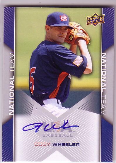 2009-10 USA Baseball #USA63 Cody Wheeler AU