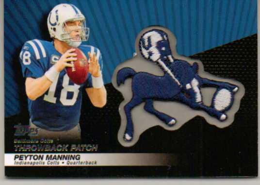 2010 Topps Throwback Patch #LPC23 Peyton Manning