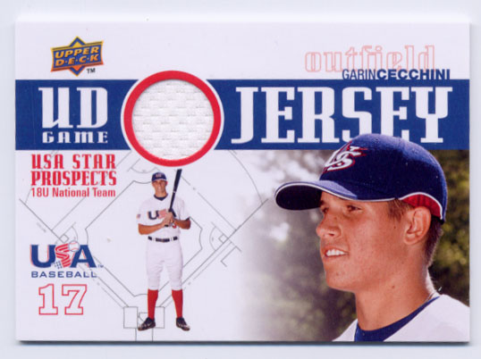 2009 Upper Deck Signature Stars USA Star Prospects Jerseys #3 Garin Cecchini