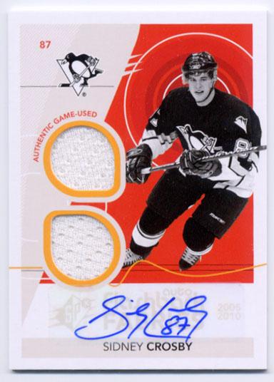 2010-11 SPx #254 Sidney Crosby FF JSY AU