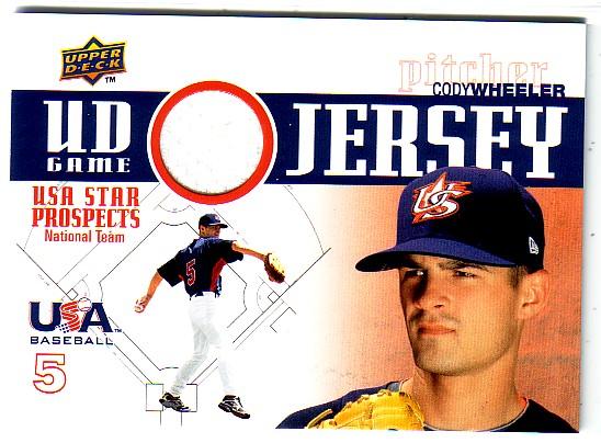 2009 Upper Deck Signature Stars USA Star Prospects Jerseys #38 Cody Wheeler