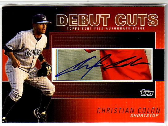 2010 Topps Pro Debut AFLAC Debut Cut Autographs #CC Christian Colon S2