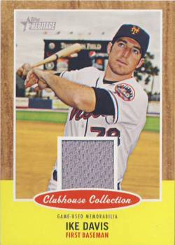 2011 Topps Heritage Clubhouse Collection Relics #ID Ike Davis