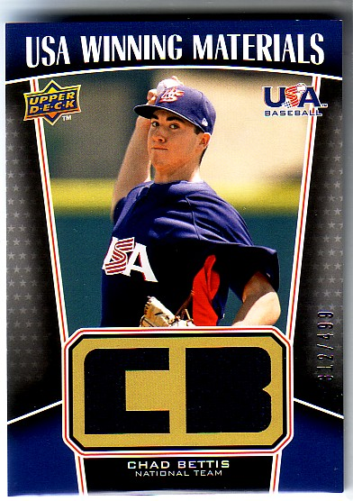 2009 Upper Deck Signature Stars USA Winning Materials #24 Chad Bettis