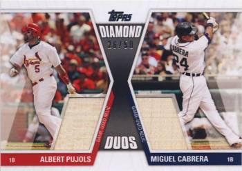 2011 Topps Diamond Duos Relics #DDR3 Albert Pujols/Miguel Cabrera