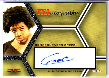 2008 TRISTAR TNA Impact Autographs Silver #ACC2 Consequences Creed