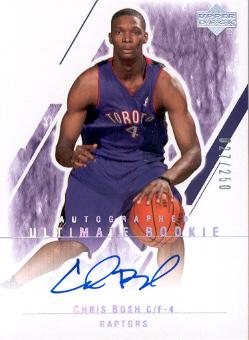 2003-04 Ultimate Collection #130 Chris Bosh AU RC