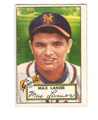 1952 Topps #101 Max Lanier