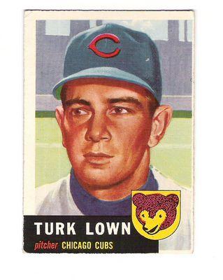 1953 Topps #130 Turk Lown DP