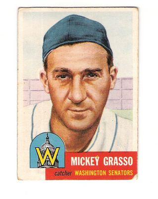 1953 Topps #148 Mickey Grasso