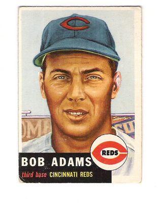 1953 Topps #152 Bob Adams DP