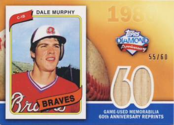 2011 Topps 60th Anniversary Reprint Relics #DM Dale Murphy S2