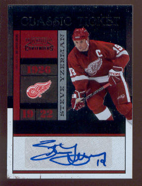 2010-11 Playoff Contenders Classic Tickets Autographs #112 Steve Yzerman/19