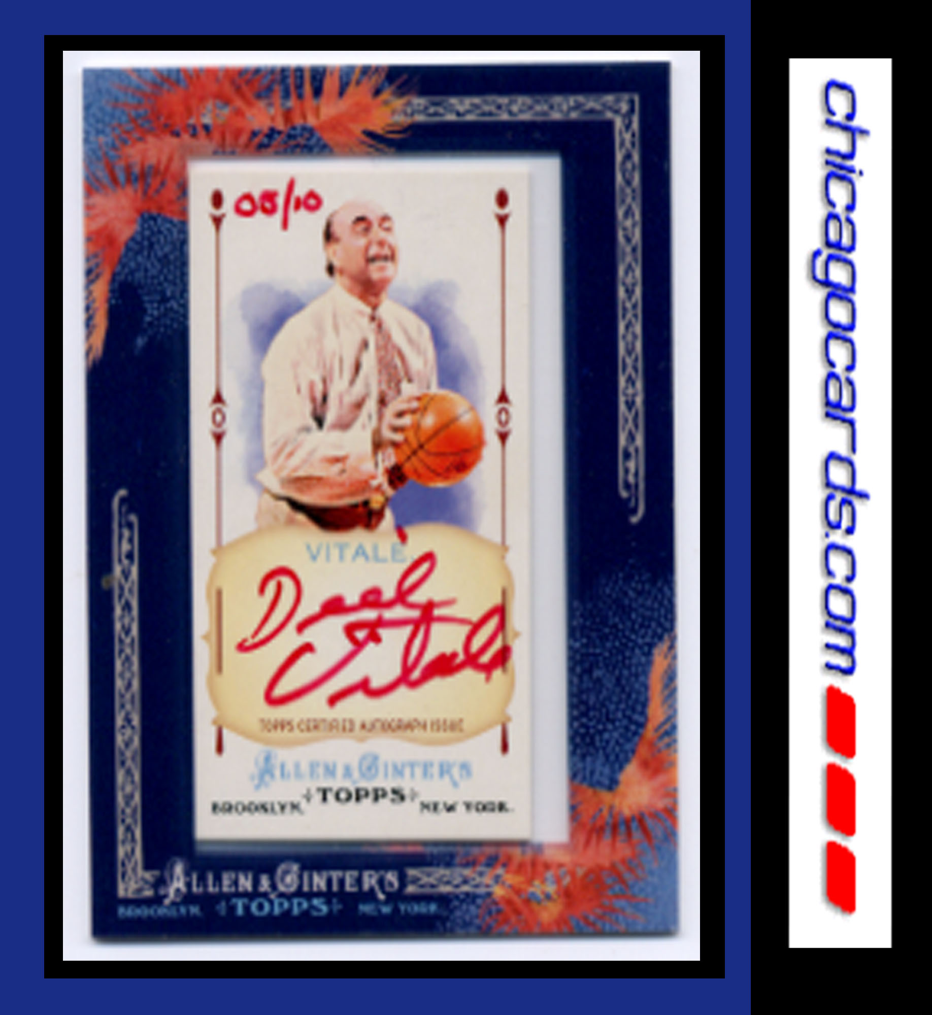 2011 Topps Allen and Ginter Autographs Red Ink #DVI Dick Vitale