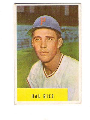 1954 Bowman #219 Hal Rice